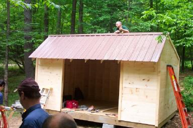 Building Justin's Lean-to