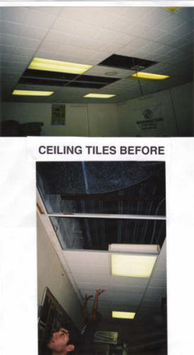 eagle ceiling tiles before  2